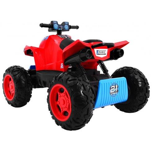Elektromobilis keturratis RMZ Sport 4x4 Raudonas