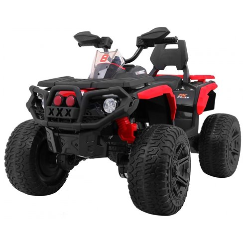 Elektromobilis keturratis RMZ Maverick 4x4 Raudonas