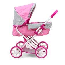 Lėlių vežimėlis M&M Alice Prestige Pink