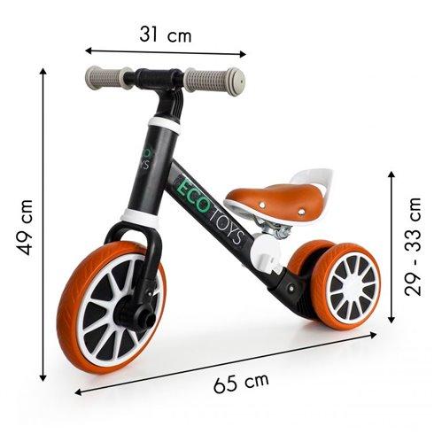 Balansinis dviratukas Eko Žaislas 2in1 Speed Juodas