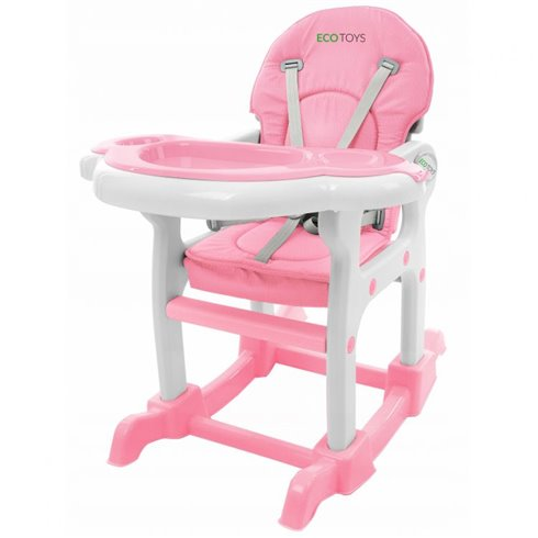 Maitinimo kėdutė Eko Žaislas 3in1 Pink Pastel