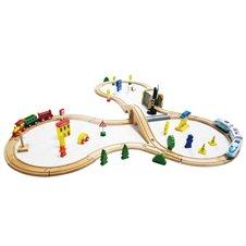Medinė traukinių trasa Eko Žaislas 69el.