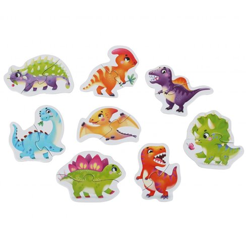 Dėlionė Cubika Laimingi dinozaurai