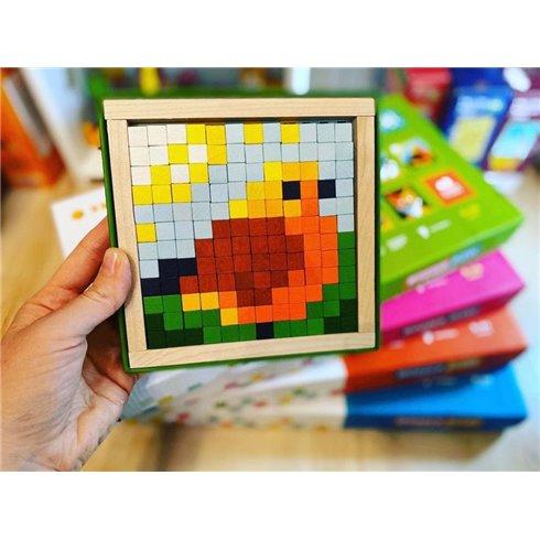 Medinė mozaika Cubika Pikseliai Gyvūnai