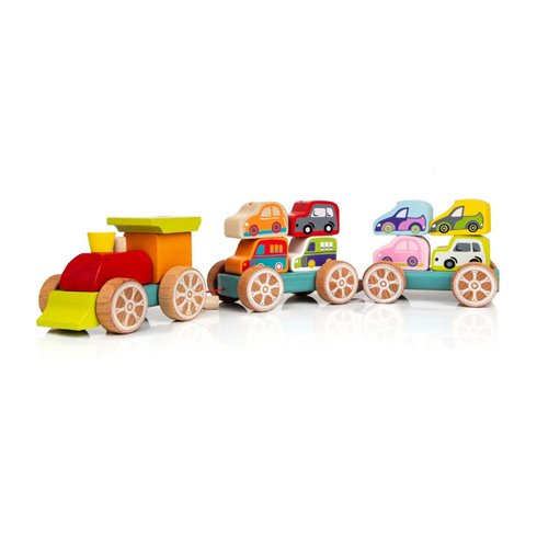 Medinis traukinukas Cubika Cars