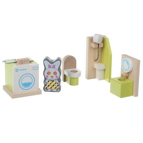 Medinių baldų komplektas Cubika Vonios kambarys