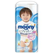 Japoniškos sauskelnės - kelnaitės Moony BIG 12-22 kg, berniukams, 38 vnt.