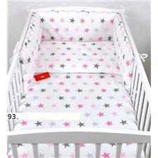 Patalynės komplektas BabyLux 2 dalių Rožinės žvaigždės