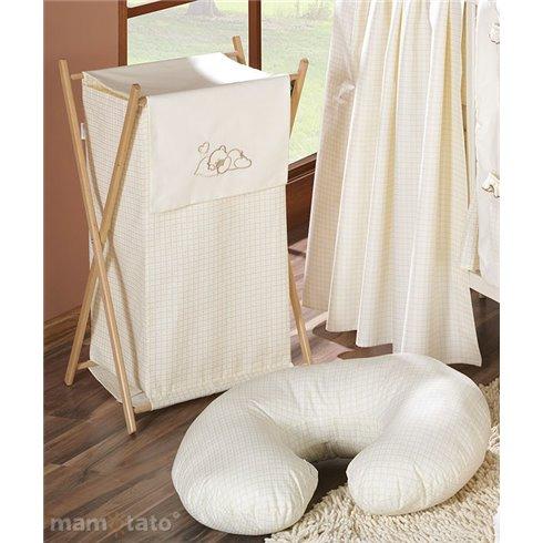 Maitinimo pagalvė MAMO-TATO ROGAL Kvadratėliai kreminiai
