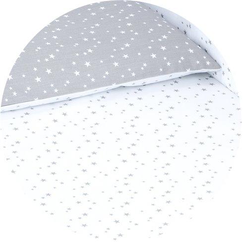 Patalynės komplektas MAMO-TATO 2 dalys Mini žvaigždės pilkos / balta