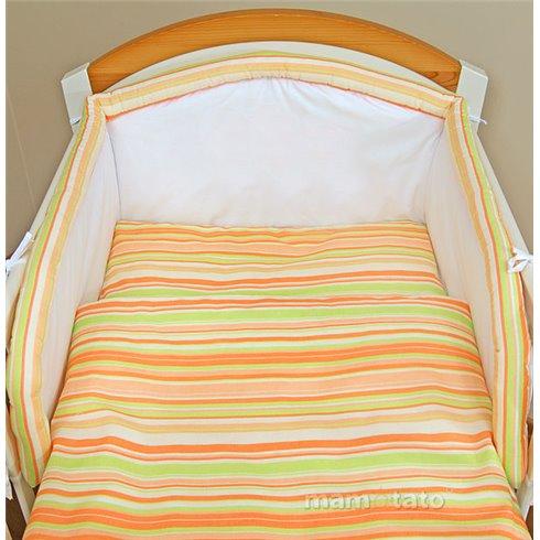 Patalynės komplektas MAMO-TATO Oranžinės juostelės 2 dalys