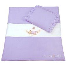 Patalynės komplektas vežimėliui MAMO-TATO Meškiukas hamake violetinis 4 dalių