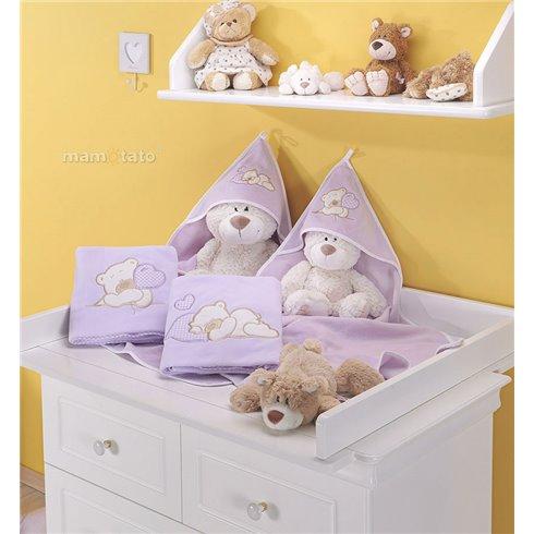 Pledukas MAMO-TATO Polar Miegantis meškiukas violetinis