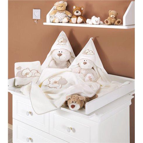 Pledukas MAMO-TATO Polar Meškiukas su širdele rudas