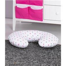 Maitinimo pagalvė MAMO-TATO ROGAL Žvaigždės pilkos rožinės