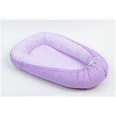 Lizdelis kūdikiui MAMO-TATO Violetiniai taškeliai / violetinės juostelės