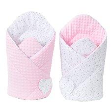 Vokelis MAMO-TATO Minky Mini žvaigždės baltos pilka / rožinė