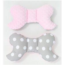 Antistresinė pagalvėlė MAMO-TATO Minky Pilki taškai / rožinė