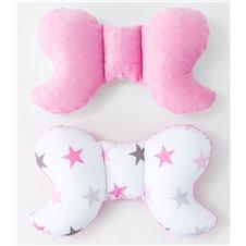 Antistresinė pagalvėlė MAMO-TATO Minky Žvaigždės pilkos rožinės / rožinė