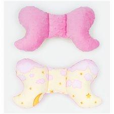 Antistresinė pagalvėlė MAMO-TATO Minky Debesėliai rožiniai / rožinė