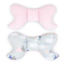 Antistresinė pagalvėlė MAMO-TATO VELVET Pilkos gulbės / rožinė
