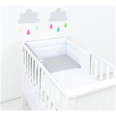 Apsauga lovytei MAMO-TATO Mini žvaigždės pilkos / mini žvaigždės baltos