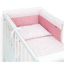 Apsauga lovytei MAMO-TATO PREMIUM Velvet PIK Rožinis miškas / rožinė