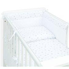 Apsauga lovytei MAMO-TATO Velvet PIK Burbulinės žvaigždės pilka / balta