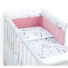 Apsauga lovytei MAMO-TATO PREMIUM Velvet PIK Kolibriai / rožinė
