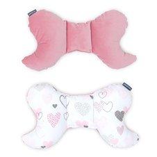 Antistresinė pagalvėlė MAMO-TATO VELVET Širdelės / rožinė