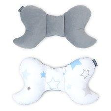 Antistresinė pagalvėlė MAMO-TATO VELVET Žydras žvaigždynas / pilka