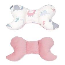 Antistresinė pagalvėlė MAMO-TATO VELVET Dinozaurai / rožinė