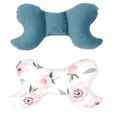 Antistresinė pagalvėlė MAMO-TATO VELVET Gėlės / nepalo žalia