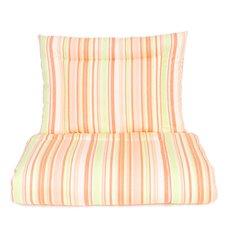Antklodė ir pagalvė MAMO-TATO antialerginė medvilnės užvalkalas oranžinės juostelės 100x135