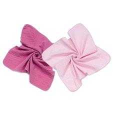 Vystyklai dvigubo muslino MAMO-TATO 2vnt 60x60 Turmarino/rožinis