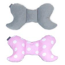 Antistresinė pagalvėlė MAMO-TATO VELVET - Taškai rožinė / pilka