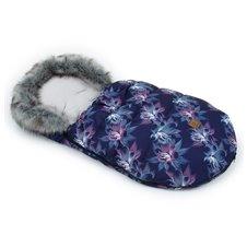 Žieminis vokelis MAMO-TATO Gėlės dryžuotos / pilka