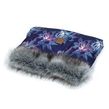 Pašiltinimas rankoms MAMO-TATO Dryžuotos gėlės / pilka