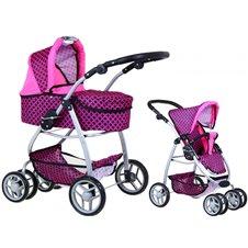 Žaislinis lėlių vežimėlis 2in1  [ZDZ.M1509]