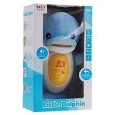 Mėlynos spalvos pliušinis žaislas Delfinas