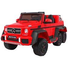 Elektromobilis RMZ Mercedes G63 6x6 raudonas MP4