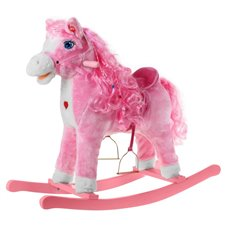 Konik Koń Na Biegunach Różowy