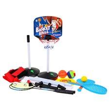 Zestaw Sportowy 5w1, Koszykówka, Siatkówka, Badminton, Frisbee, Paletki
