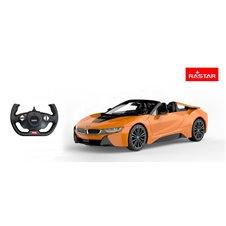 Valdomas automobilis RASTAR BMW I8 Roadster Oranžinis 1:12