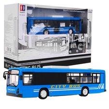 Valdomas autobusas RMZ Double E 1:20 Mėlynas
