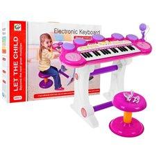 Keyboard Werble 3 Oktawy Różowy