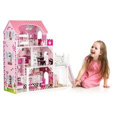 Didelis medinis lėlių namas Eko žaislas