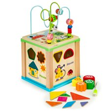 Medinis edukacinis kubas Eko žaislas