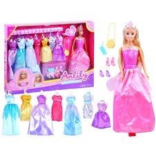 Anlily Lalka księżniczka + suknie na bal  ZA3488