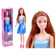Anlily Lalka z długimi włosami w sukience ZA3485